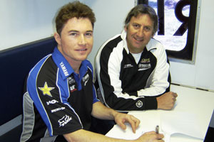 Boyd, pictured with team owner Craig Dack, is coming on strong right now in the MX Nationals.