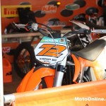 No, Stefan Everts isn't here, but his front number plate is as KTM shows off its 2011 model SX-F.