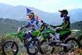 Behind The Scenes: Villopoto and Baggett test 2012 Kawasakis
