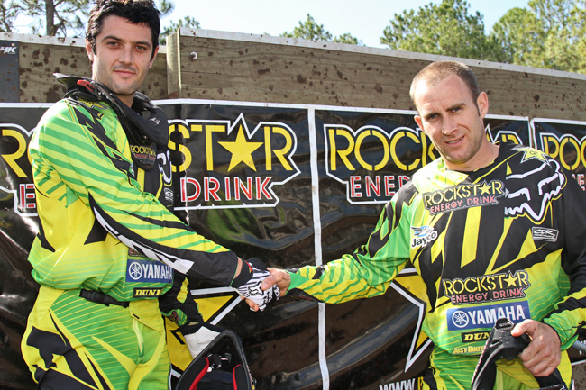 Marmont and CDR Rockstar Energy Drink Yamaha teammate Josh Coppins have been class acts in 2011. Image: Alex Gobert.