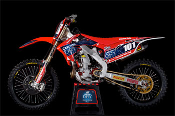 Win Townley's CRF450R with Pirelli Scorpion MX and Honda