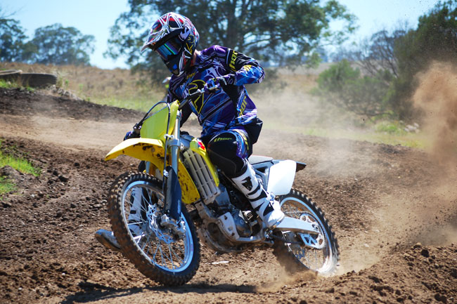 The Project Moto: 2013 Suzuki RM-Z250 already exceeds expectations in production trim. Image: Liam Foulds/LF Sports Photography.