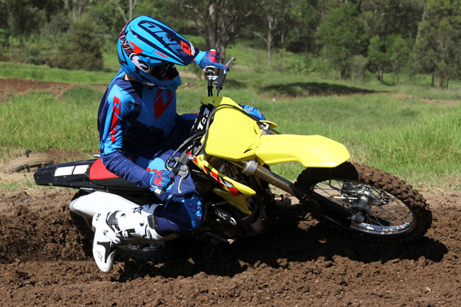 The Project Moto 2013 Suzuki RM-Z250 has stepped up another notch with the addition of these new products. Image: Alex Gobert.