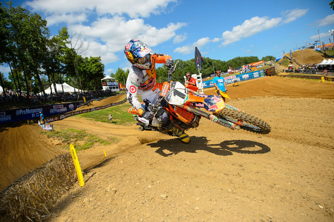 Ryan Dungey took top honours in the premier class at round five. Image: Simon Cudby.