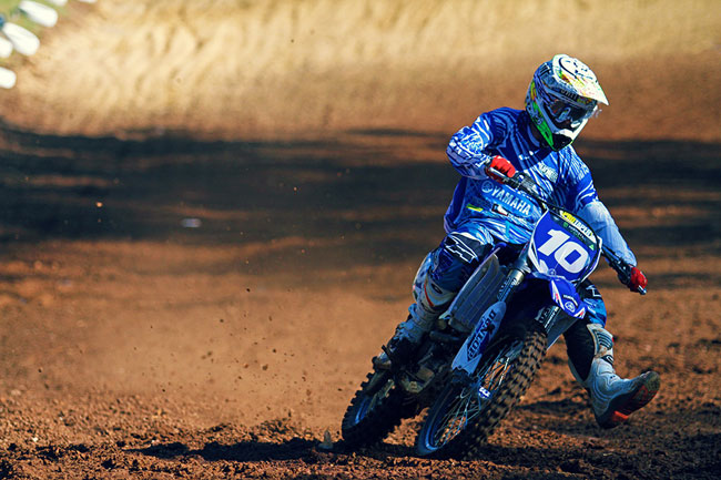 Victory in the MXD ranks elevated GYTR Yamaha's Jay Wilson to second in the series. Image: Simon Makker/Makkreative.com.