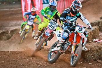 Kirk Gibbs will take on some of supercross racing's top talent this weekend. Image: Grant Reynolds/FiftySix Clix.