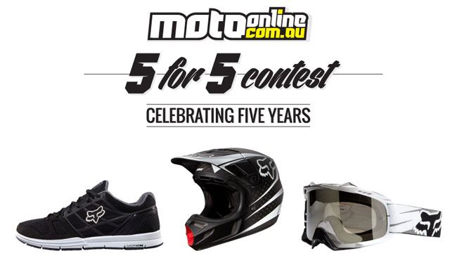 Win a Fox prize pack in Week 1 of MotoOnline.com.au 5 for 5 Contest