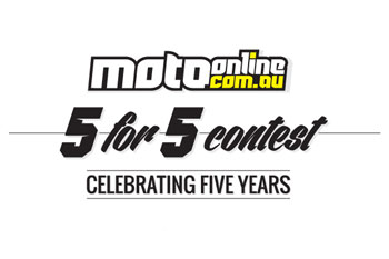 MotoOnline.com.au launches 5 for 5 Contest to celebrate five years