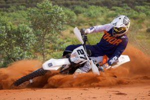 Husqvarna's Long wins Deep Well Motocross