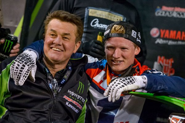 Hill celebrates first-career supercross crown