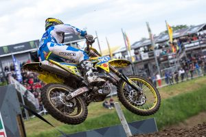 Lawrence storms to breakout MX2 grand prix podium