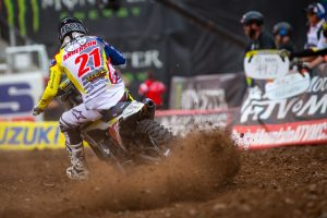 Front wheel damage denies Anderson of clinching title in Salt Lake City