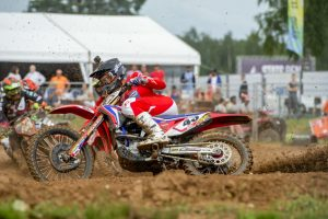 Practice crash sets tone for Evans in enduring Latvian GP