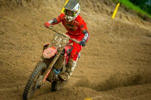 False neutral costly for first moto winner Lawrence at Spring Creek