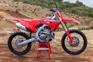 MX2 leader Webster shakes down 2022 CRF250R